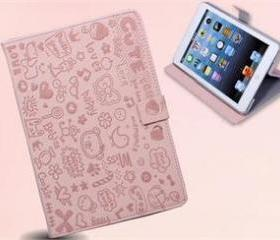 iPad Mini Pink Cute Leather cover girly Case