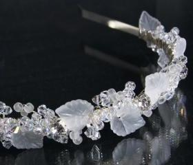 Wedding Headbands, Ivy Leaves, Crystals and Rhinestones Tiara