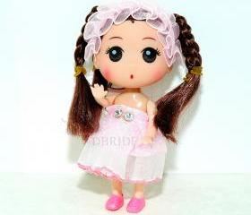 Georgina Girls Doll Keychain - Kids KeyChain - Purse Charm - Children Accessories