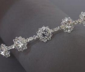 Wedding Tiara /Wedding Headband - Silver Diamante and Crystals - Bridal, Bridesmaids