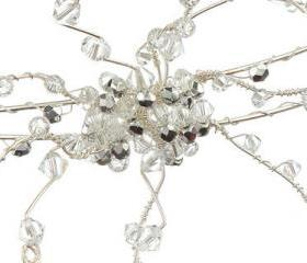 Wedding Headband - Double Band Silver Crystal Side Tiara