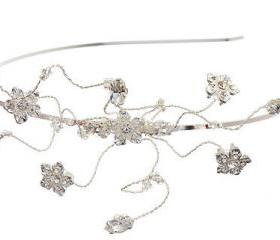 Side Tiara, Wedding Headbands Rhinestone Diamante Flowers