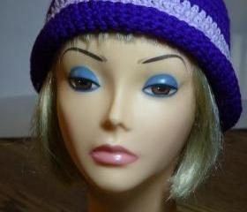 Bright Purple Hat with Lilac Band