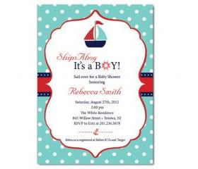 Sailboat Custom Invitation Reserve for lunaandi