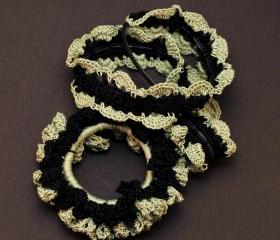 Handmade Black Forest Lace Scrunchie/headband Set