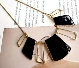 Winnter New Arrival! The West Style geometric hollow shape black drip necklace! Short Necklace