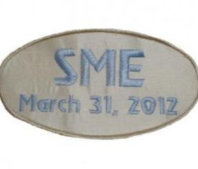 Custom Embroidered Wedding Gown Label Created in Silk
