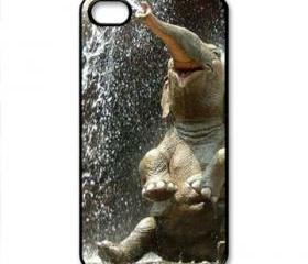 new Black Elephant OBEY happy iPhone case 4 / 4S black case cover