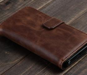 Deluxe Javanese Leather Wallet Case for iPhone 5