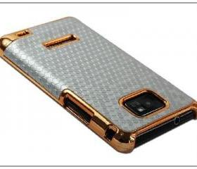 Diamond Java Turtle Chrome Leather Case for Samsung Galaxy S2