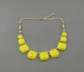Yellow bubble necklace,holiday party,bridesmaid gifts,Beaded Jewelry,wedding necklace,Prom necklace