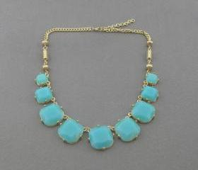 Turquoise bubble necklace,holiday party,bridesmaid gifts,Beaded Jewelry,wedding necklace,Prom necklace