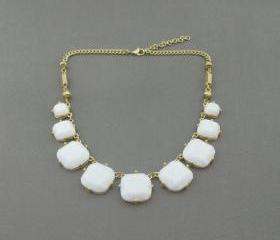 White bubble necklace,holiday party,bridesmaid gifts,Beaded Jewelry,wedding necklace,Prom necklace