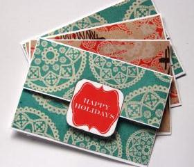 Christmas Money Holder - Gift Card Holder - Handmade Pocket Card - Xmas Promo Pack - Buy 3 Get 1 & FREE SHIPPING