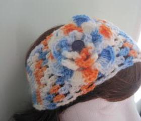 Crochet Headband or neck warmer - baseball (H3/N3)