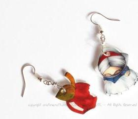 Earrings Snow White and Apple