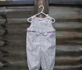 Baby girls floral corduroy romper/onesie