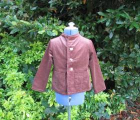 Boys brown corduroy jacket/coat