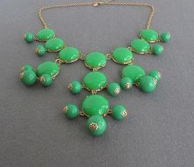 Fruit green bubble necklace,holiday party,bridesmaid gifts,Summer Jewelry,Beaded Jewelry,statement necklace