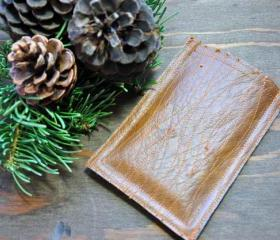 One of a kind Handmade Wood Grain Faux Leather Smart Phone, IPhone, iPod Sleeve, Case
