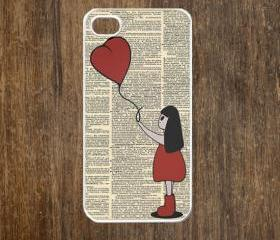 iPhone 4 case, iPhone 4s case, case for iPhone 4 mobile case handmade : Bansky balloon girl1 iPhone 4 Case