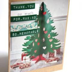 Upycled Thank You Cards - Eco Friendly Christmas Card Set - Buy 3 Get 1 & Free Shipping
