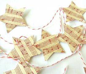 Vintage Inspired Christmas Star Garland/Banner - 2 yards