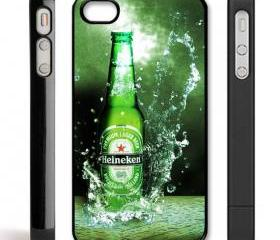 heineken beer case cover for iPhone 4 / 4s BLACK CASE