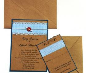 Eco Friendly Wedding Invitation - Pocket Invitation Suite Sample - Budget Friendly - FREE SHIPPING