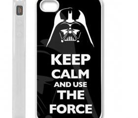 Starwars Keep Calm and Use the Force Darth Vader 2 case cover for iPhone 4 / 4s WHITE CASE COVER