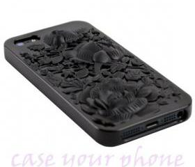 iPhone 5 Premium 3D Floral Rose TPU Case