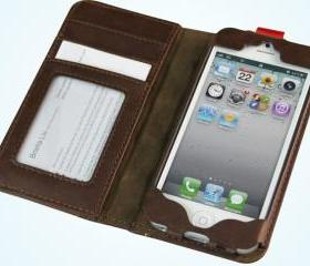 iPhone 5 Book Book Cover Leather Wallet Case