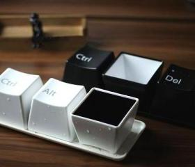 fashion creative keyboard cup set -white
