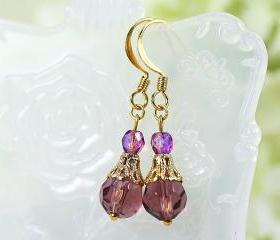 Purple Drops Earrings
