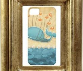 iPhone 5 Cover, iPhone 5 Hard Case, iPhone Case, iPhone case decoupage, hard iPhone 5 case - Fantacy Whale