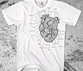 New I HEART LA Shirt Los Angeles Music Venues Diagram Map Schematic Free Ship