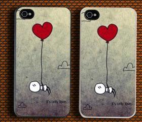 Funny Grunge Love Its Only Love Custom iPhone 4/4S Case Cover