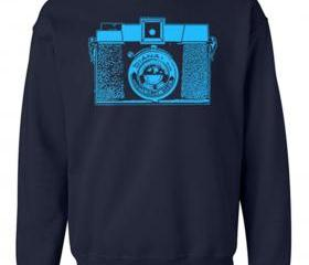 CAMERA Crew Neck Sweat Shirt Vintage Diana Camera Free Shipping