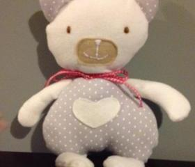 Baby Personalised Teddy. Handmade gift for new babies, baby shower, christenings, Christmas, baby girl or boy, unisex