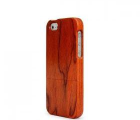 IPHONE 5 RED DALBERGIA WOOD CASE