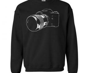Vintage SLR 35mm Camera Crew Neck Sweat Shirt