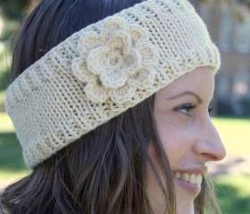 Flower headband in cream