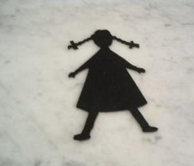 Little girl felt cut out