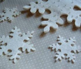 12 little Felt snowflake 1.5 inch