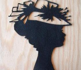 Black felt silhouette
