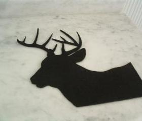 Deer silhouette on black felt