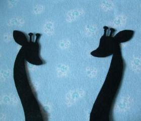 2 Giraffe Felt silhouette