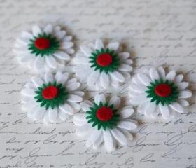5 felt daisies (20pieces)
