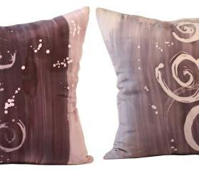 Silk Pillow - Sand and Shells Duet