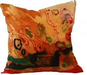 Silk Pillow - Desert Paint